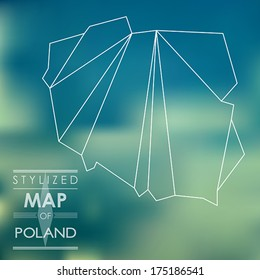 map of Poland. map concept