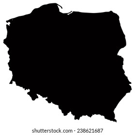 Map of Poland - This image is a vector illustration and can be scaled to any size