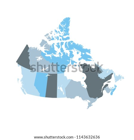 Map Of The Provinces And Territories Of Canada.Map Provinces Territories Canada Stock Vector Royalty Free