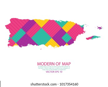 High Detailed Black Map Puerto Rico Stock Vector (Royalty Free ...
