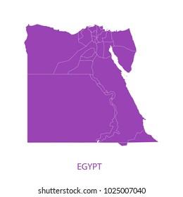 Map Purple of egypt vecter illustration eps10.
