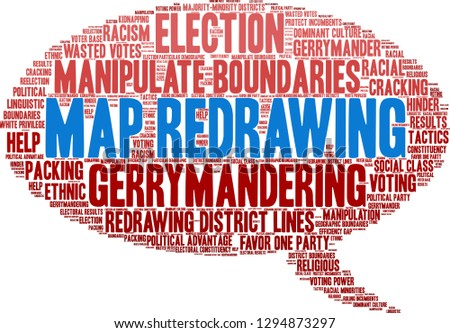 Map Redrawing Gerrymandering Word Cloud On Stock Vector ... on linguistic map of france, linguistic map of central america, us map and tahiti, linguistic map of el salvador, linguistic map of puerto rico, difference between fiji and tahiti,
