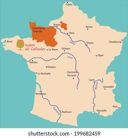 Calvados France Map.Calvados Map Images Stock Photos Vectors Shutterstock