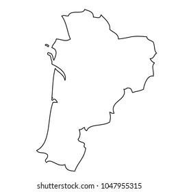 Aquitaine Region Map Stock Images RoyaltyFree Images Vectors