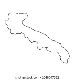 Map region of Italy - Apulia. Vector