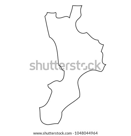 Map Of Italy Calabria Region.Map Region Italy Calabria Vector Stock Vector Royalty Free