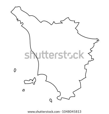 Map Of Italy Tuscany Region.Map Region Italy Tuscany Vector Stock Vector Royalty Free