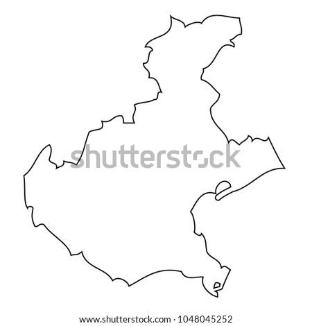 Map Region Italy Veneto Vector Stock Vector Royalty Free