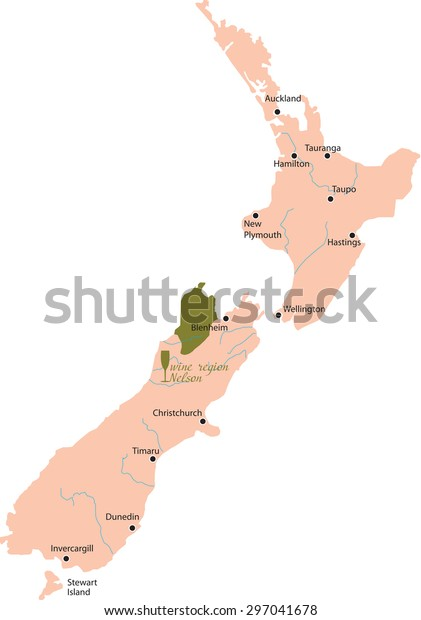 Map Nelson New Zealand.Map Region Nelson New Zealand Stock Vector Royalty Free 297041678