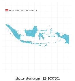 Map Republic of Indonesia