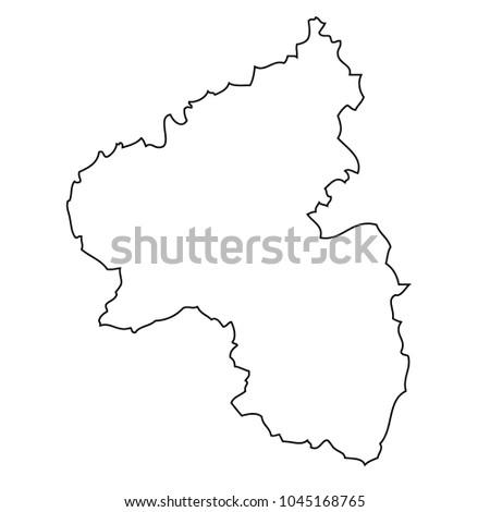 Map Rheinland Pfalz Germany Vector Stock Vector Royalty Free