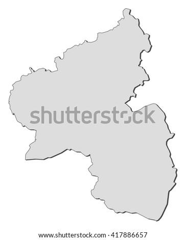 Map Of Germany Rhineland.Map Rhineland Palatinate Germany Stock Vector Royalty Free