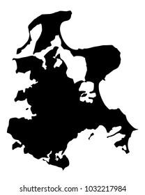 Map of Ruegen