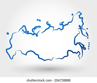 map of russia. map concept