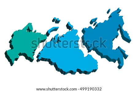 Map Russia Divided Into Parts European Stock Vector (Royalty Free ...