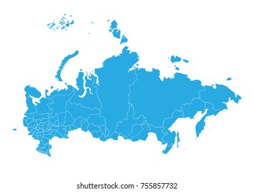 Map of russia. High detailed vector map - russia.