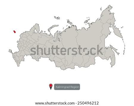 Map Russia Kaliningrad Region Stock Vector Royalty Free 250496212