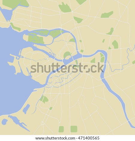 Map Russia St Petersburg City Stock Vector Royalty Free 471400565
