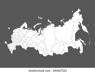 Map of Russia. Vector illustration