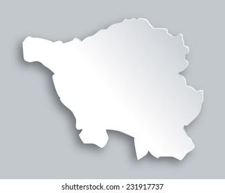 Map of Saarland