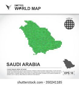 Map Of Saudi Arabia Dotted Vector