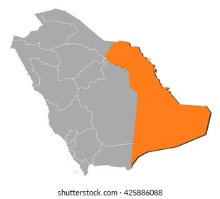 Map - Saudi Arabia, Eastern Province