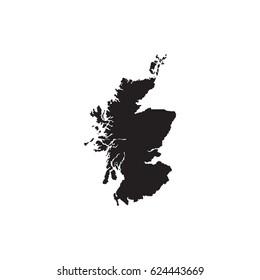 Map of Scotland vector icon.
