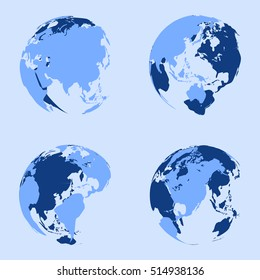 map shaped round vector design