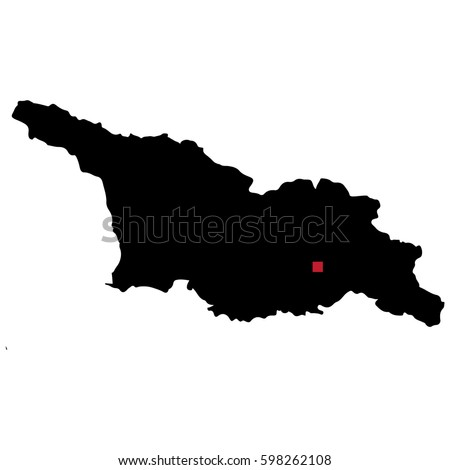 Map Of Georgia With Capital.Map Silhouette Georgia Capital City Stock Vector Royalty Free