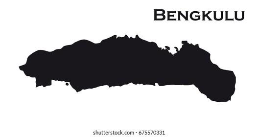 Map silhouette of the Indonesian region Gorontalo