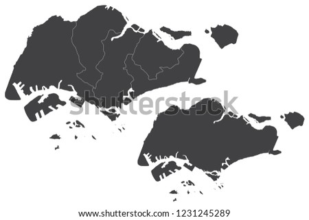 Map Singapore Couple Set Map Singapore Vector Stock Vector (Royalty ...