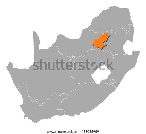 maps south africa gauteng Map South Africa Gauteng Stock Vector Royalty Free 433055959 maps south africa gauteng