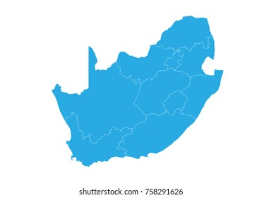 Map of South Africa. High detailed vector map - South Africa.