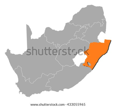 Natal South Africa Map.Map South Africa Kwa Zulu Natal Stock Vector Royalty Free