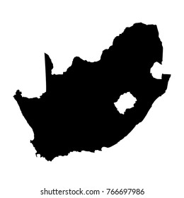 Map of South Africa on a white background, Vector illustration