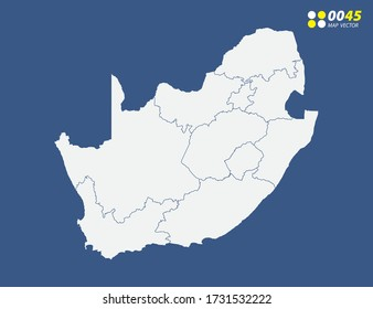 Map of South Africa vector on blue