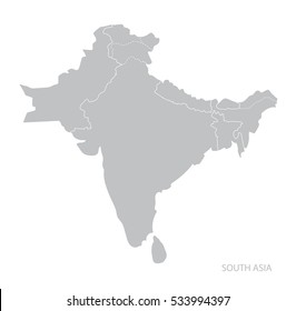 South Asia World Map.South Asia Map Images Stock Photos Vectors Shutterstock