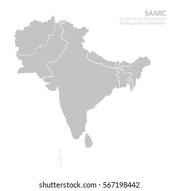 map of south asian association for regional cooperation saarc