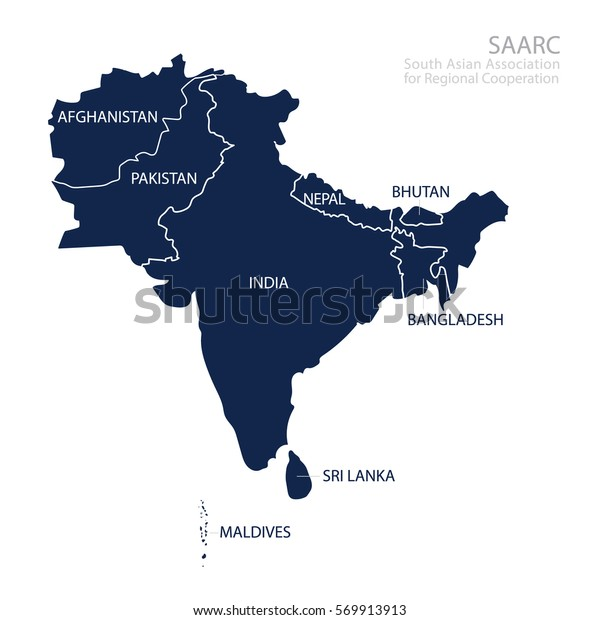 Map South Asian Association Regional Cooperation Stock