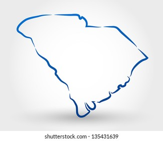 map of south carolina. map concept