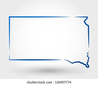 map of south dakota. map concept
