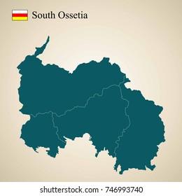 Map of South Ossetia. Iryston
