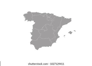 Spain Map Images, Stock Photos & Vectors | Shutterstock