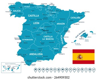 Map Of Spain And Europe.Spain Map Outline Images Stock Photos Vectors Shutterstock