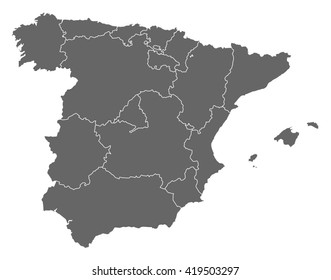Spain On Map Of World.Spain Map Images Stock Photos Vectors Shutterstock