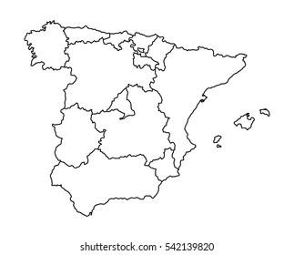 Mapa De España Comunidades Mudo.Ilustraciones Imagenes Y Vectores De Stock Sobre Mapa
