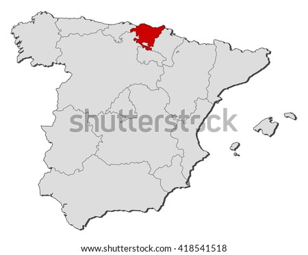 Map Spain Basque Country Stock Vector Royalty Free 418541518