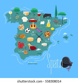 Madrid Spain World Map Images, Stock Photos & Vectors (10% Off ...