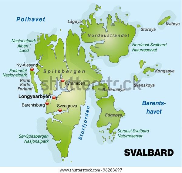 Map of Spitsbergen