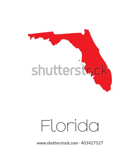 State Of Florida Map.Map State Florida Stock Vector Royalty Free 403427527 Shutterstock
